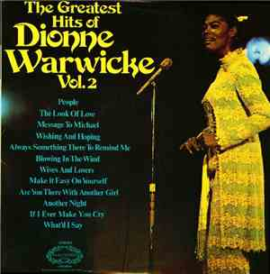 Dionne Warwicke - The Greatest Hits Of Dionne Warwicke Vol. 2