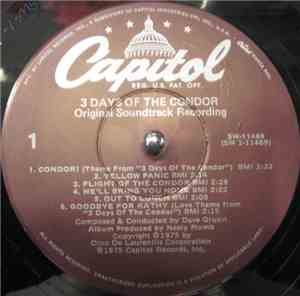 Dave Grusin - 3 Days Of The Condor (Original Soundtrack)